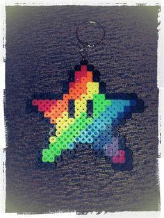 Mario Star Keychain in Rainbow Colour