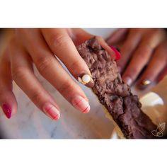 pastry, chocolate, dessert, check pattern, pink, spring