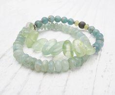phrenite bracelet aquamarine bracelet by SharonClancyDesigns, $68.00