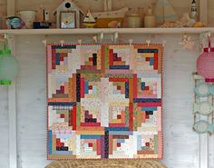 Beautiful Log Cabin quilt