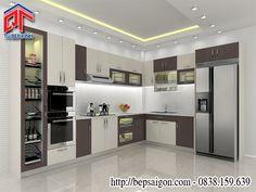 Tủ bếp đẹp thiết kế đơn giản cho phòng bếp hiện đại TB7