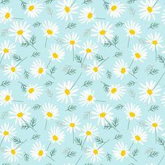 Sweet daisy flowers on bright blue seamless pattern. Daisy Wallpaper, Laptop Wallpaper, Aesthetic Iphone Wallpaper, Pattern Wallpaper, Aesthetic Wallpapers, Cute Backgrounds, Cute Wallpapers, Pattern Art, Pattern Design