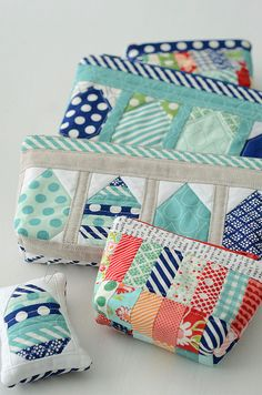 Rainy Day Sewing bags by croskelley, via Flickr