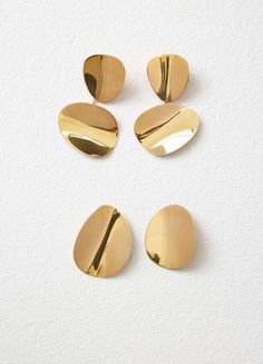 Petal Earrings in Gold Brass - Céline