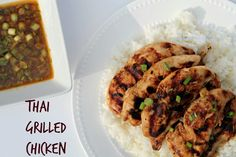 Thai Grilled Chicken  - The flavors of takeout thai chicken don't have to be fried and heavy.  All the taste of your favorite takeout #thai #chicken but in an easy to make grilled version  #grill #summer #asianrecipe #takeout