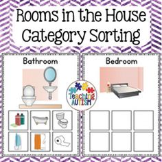 This resource contains 8 different rooms for students to match the appropriate furniture/object images into.The rooms included are: Bedroom Bathroom Dining Room Garage Kitchen Living Room Office YardIf you have any recommendations for any additional sorting pages you would like added please don't hesitate to contact me.There are 6 items to match for each card.