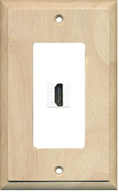riteav 1 port hdmi 20 keystone wall plate wood u0026 whit