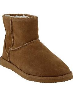 5140be1c73e Women s Sherpa-Lined Suede Ankle Boots