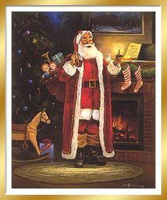 A Christmas Wish by George Kovach ~ Santa