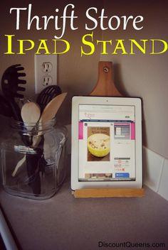 DIY iPad Stand #diy #kitchen #organization #iPad