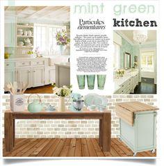 """mint kitchen"" by dian-lado on Polyvore"
