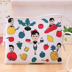 New Fashion Cartoon Printed Women Graffiti Handbag Mini Crossbody Shoulder Bag Ladies Casual Purses Clutches Girls Handbag G0739