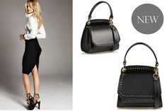 Studded black mini leather bag @comenziwildinga