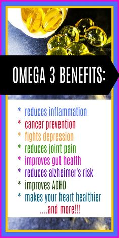 Amazing list of Omega 3 benefits for your whole body!