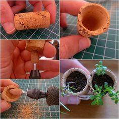 Best Indoor Garden Ideas for 2020 - Modern Wine Cork Crafts, Wine Bottle Crafts, Suculentas Diy, Mini Vasos, Deco Nature, Cork Art, Miniature Crafts, Plant Decor, Diy And Crafts