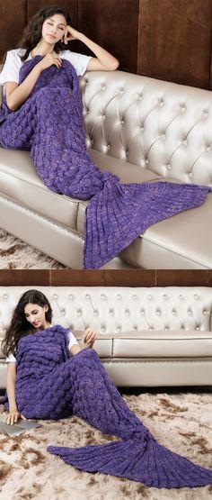 knitted mermaid blanket,mermaid blanket,mermaid tail blanket,mermaid blanket for adults,mermaid blanket for childern.