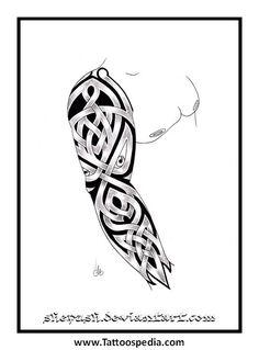 tribal full sleeve by shepush on DeviantArt Celtic Sleeve Tattoos, Celtic Tattoos For Men, Black Sleeve Tattoo, Celtic Knot Tattoo, Full Sleeve Tattoo Design, Irish Tattoos, Full Sleeve Tattoos, Viking Tattoos, Tattoo Designer Online