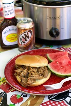 Slow Cooker Root Beer Pulled Pork is a recipe a classic recipe everyone must try! Tender pork with root beer and barbecue sauce, great on buns or even rice. #crockpot - The Magical Slow Cooker