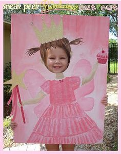 """Stylish Childrens Parties: """"Pinkalicious""""-inspired Birthday Parties (pinning this to remember to make photo cut-outs for parties from now on!)"""