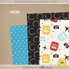 Project Mouse (See Ya Real Soon) Papers FREEBIE by Britt-ish Designs - Perfect for saying Goodbye to Disney in your Project Life or your cover albums!!