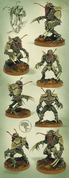 The Internet's largest gallery of painted miniatures, with a large repository of how-to articles on miniature painting Warhammer 40k Tyranids, Warhammer 40k Figures, Warhammer 40k Art, Warhammer Models, Warhammer 40k Miniatures, Warhammer 40k Tabletop, Alien Creatures, Fantasy Miniatures, Painting