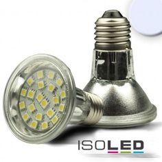 E27 PAR20 LED Strahler SMD21, 3,6W, kaltweiss / LED24-LED Shop
