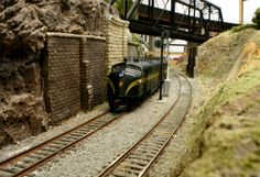 Model train track is well designed and finished.