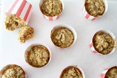Carrot/apple muffins for the lunch box. Kids lunch. www.babybite.dk