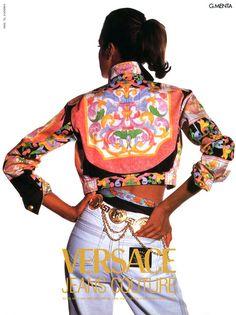 Gianni Versace ad 1992 feat Yasmeen Ghauri