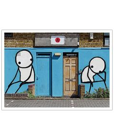 Streetart Blau 2  of Sadia now on JUNIQE!