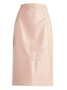 Tibi Pale Pink Patent Skirt