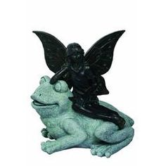 Shop for Transpac Resin Gray Spring Enchanted Garden Fairy on Frog Statuette. Get free delivery On EVERYTHING* Overstock - Your Online Home Decor Outlet Store! Frog Statues, Fairy Statues, Garden Statues, Wall Sculptures, Lion Sculpture, Bear Statue, Spring Fairy, Fake Plants Decor, Silk Plants