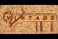 Vintage wine art by Wine Cork Designs Wine Cork Art, Wine Cork Crafts, Wine Art, Bottle Crafts, Diy Cork, Vintage Wine, Vintage Ideas, Vintage Stuff, Vintage Designs