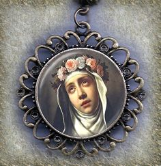 Saint Mary Magdalene Maria Magdalena Exquisite by MarysPrayers Patron Saint Of Cats, St Rose Of Lima, St Bridget, St Catherine Of Siena, Archangel Uriel, Diamonds In The Sky, Mary Magdalene, Patron Saints, Antiques