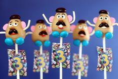 The Many Faces of Mr. Potato Head Cake Pops