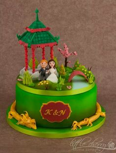 Removable scene on top of cake!
