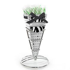 #Zebra - Everyday Party Candy Bouquets with Sticklettes | BigDotOfHappiness.com #AnimalPrint #PartyIdeas #BigDot #HappyDot