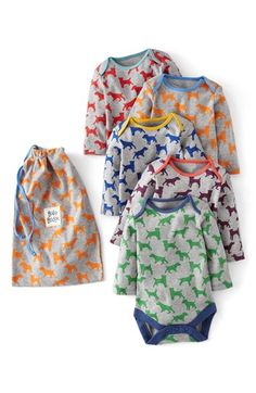 Mini Boden Bodysuit (5-Pack) (Baby) available at #Nordstrom