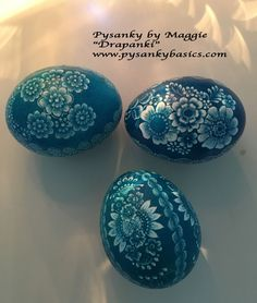 "Pysanky by Maggie, ""Drapanki"" scratch eggs. www.pysankybasics.com  YouTube: pysanky basics"