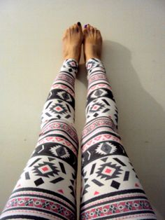 Women's Aztec Print Sexy Skinny Leggings Yoga Pants Workout Pants Pink Grey Tribal Ethnic Print Spandex Tights Women Clothing Fashion by GrahamsBazaar, $25.00