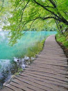 プリトヴィツェ湖畔群 曇りが残念ではあったが、とても澄んでいた湖。中国の九寨溝もいつか行ってみたいと感じた。