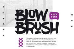 Blow Brush – Free Font