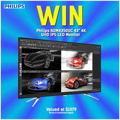 4k Uhd, I Win, Monitor, Australian Competitions, How To Apply, Coding, Led, Giveaways, Photoshop