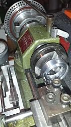 Using Unimat to machine groove for #218 O-ring for cap seal