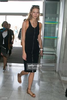 Model Karlie Kloss is seen at the Nice airport during the 68th annual Cannes Film Festival on May 14, 2015 in Cannes, France.
