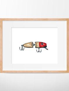 Fishing Lure 106 Print Bait Art Fishing Art Fishing Decor