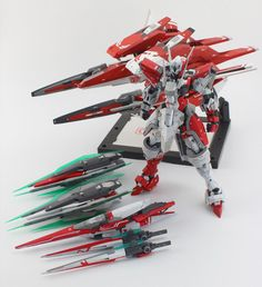 GUNDAM GUY: MG 1/100 00 Qan[T] Tekkeman - Custom Build [Part 2]