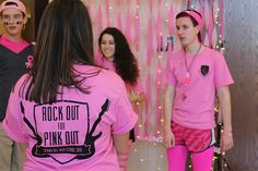 Spring Hill DECA Rocks Out for Pink Out - DECA Direct Pink Out, Spring Hill, Community Service, Breast Cancer Awareness, Fundraising, Rocks, T Shirts For Women, Non Profit Jobs, Stone