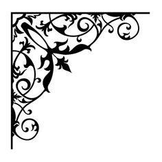 Pretty corner stencil