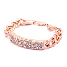 Luxe Rose Gold ID Bracelet- add to your Holiday Wish List. www.chicstreets.com